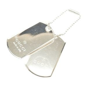 AUTHENTIC GUCCI Double Dog Tag Pendant